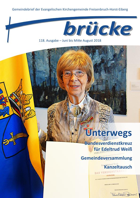 Titelbild Gemeindebrief Ausgabe Juni bis Mitte August 2018